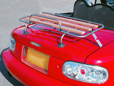 Mazda MX5 ml 1/2 classic car boot rack Aluminium & Wood