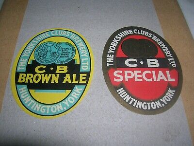 The YORKSHIRE CLUB'S Brewery Ltd  HUNTINGTON 2 (due) different labels