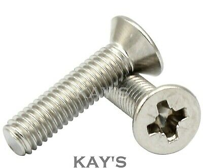 M3 M4 M5 M6 Pozi Countersunk Machine Screws A2 Stainless Steel Posidrive Bolts