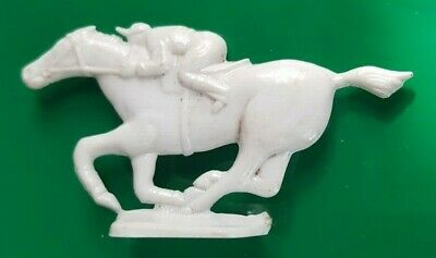 1951 Vintage Premium Cracker Jack Prize Toy Jockey and Horse Stand Up