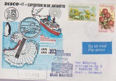 ANTARCTIC COVER- FALKLAND ISLANDS-Antarctic Cruise Letter to Germany-1979