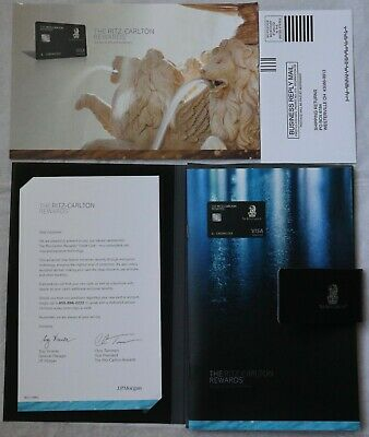Ritz Carlton Hotel Welcome Package from JP Morgan Credit Card Black Collectible
