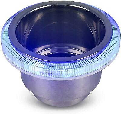 Stainless Steel Cup Drink Holder w/ BLue LED Ring Light - Five Oceans