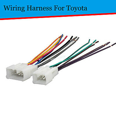 Car Aftermarket Install Radio Wire Harness Adapter Plugs For Toyota Camry Tacoma