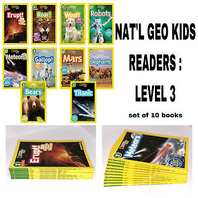 National Geographic Level Reader Collection Level 3 Set of 10 Childrens Books