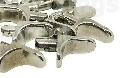 100 PACK OF GLASS SHELF SUPPORT WITH PLASTIC COLLAR M5 5mm STUD METAL PEGS IKEA KITCHEN