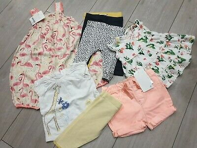 🌵BNWT Next 0-3 Baby Girl Bundle Romper Mantaray Dress BNWOT Outfit Used🌵