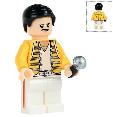 G3 - Freddie Mercury - The Queen Band - Minifigures MOC Custom LEGO - Nuovo