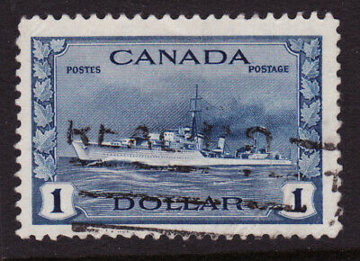 Canada Scotts #262 $1 deep blue Destroyer   Used VF