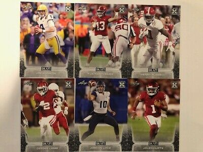 2020 Leaf Draft Football Card Singles (1-100) Rookie Card RC **YOU PICK**