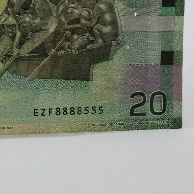 """Canada $20 (8888) Solid 8's & 555 Lucky """"Chinese"""" Money - Good for Feng Shui"""