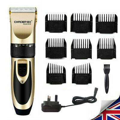 UK Mens Hair Clippers Electric Trimmer Shaver Kit Hair Cutter Set Home Hair Cut