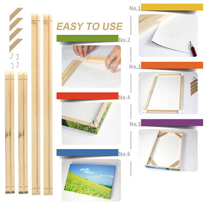 20-60CM STRETCHER BAR SOLID WOOD STRIP DIY FRAME FOR CANVAS PAINTINGS PRINTS FD