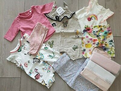 🌵All Next UpTo 1 Month BNWT Baby Girl Bundle First Size Some BNWOT Outfits🌵