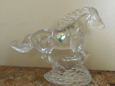 Waterford Crystal RUNNING HORSE Figurine Made in Ireland MINT With Tags