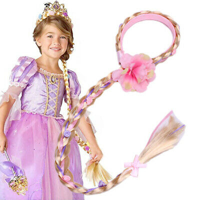 RAPUNZEL WIG WITH PLAIT 82cm Accessory for Tangled Princess Fairytale Fancy