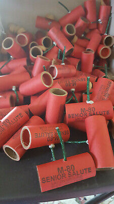 25 PYRO M-80 SENIOR  SALUTE TUBE 3/4x2 1/8   25 PAPER ENDS.WITH FUSE NO POWDER