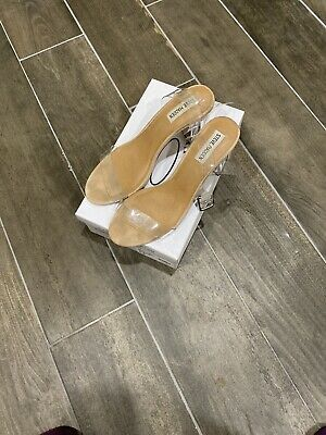 concepto Puerto itálico  STEVE MADDEN WOMEN'S Swirly Clear Pari Size 10 - $9.99 | PicClick