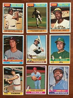 1976 TOPPS BASEBALL Pick your own Commons (4/$1) and Stars and Traded cards