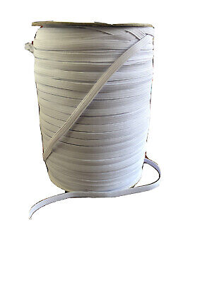 10 Meters 6mm White Elastic - 1/4 Inch - Ideal For Face Masks - Free Postage