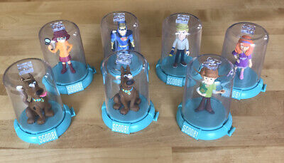 New Scoob Movie Domez Figures Scooby Shaggy Fred Thelma Daphne Falcon + Chase