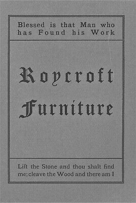 1906 Roycroft Mission Furniture Catalog Reprint / Book