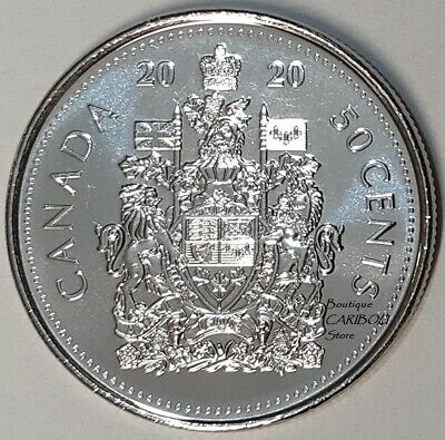 2020 Canada 50 Cents Coat of Arms BU