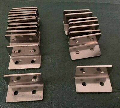 Stainless Steel Mounting Brackets 20 Pcs