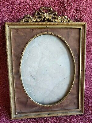Antique Picture Frame with Burled Wood