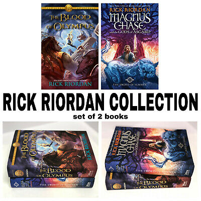 Rick Riordan Collection 2 book set: The Blood of Olympus & The Sword of Summer
