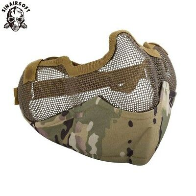 Tactical Airsoft Half Face Metal Net Mesh Mask Paintball Guard Protective Gear