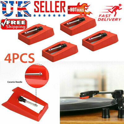 4pcs Turntable Phono Ceramic Cartridge with Stylus Needle f/ Vinyl Record Player