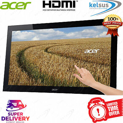 """Acer T232HL LCD 23"""" Full HD Touchscreen LED IPS Monitor HDMI USB 3.0 1920x1080 C"""