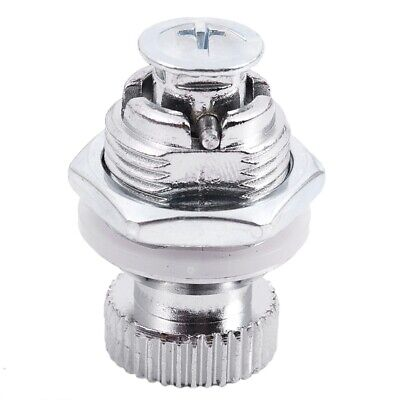 Lever lock for furniture, with round knob, external thread 1.7 cm E6C4