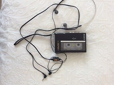 Sony TCM-R1 Standard Cassette Voice Recorder Dictaphone Player & Tape