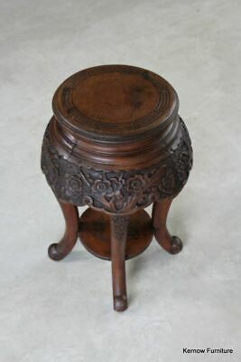 Antique Wooden Chinese Plant Stand Jardiniere Side End Bedside Table