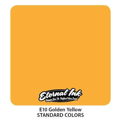 Tattoo Eternal Ink Color 30Ml Tatuaggio Inchiostri Giallo Dorato - Golden Yellow