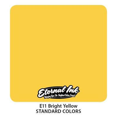Tattoo Eternal Ink Color 30Ml , Tatuaggio Inchiostri Giallo Forte Bright Yellow
