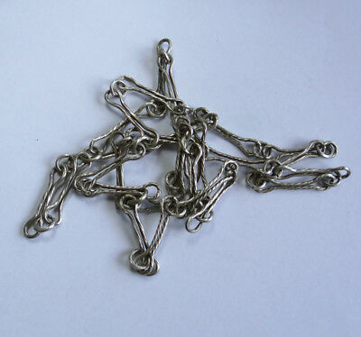 Old European Silver Long Chain For Watch