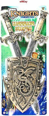 "20/"" TOY KNIGHTS AND WARRIORS SWORD /& SHIELD PLAY SET FANCY DRESS KIDS CHILDRENS"