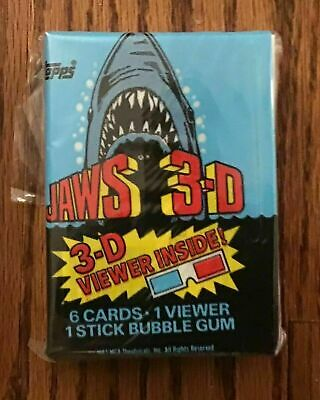1983 Topps Jaws 3-D Complete Card Set with 3-D Viewer