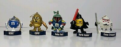 Star Wars MPire Christmas Ornaments 2005 M&Ms Lot of 5 No Box
