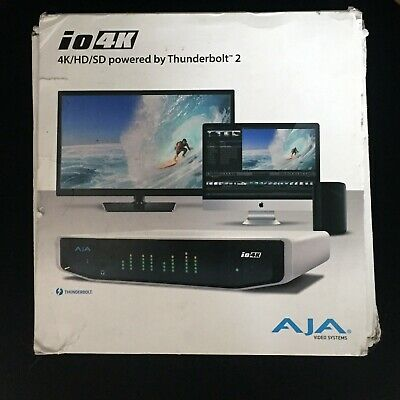 io 4k  powered Thunderbolt 2 AJA VIDEO SYSTEMS