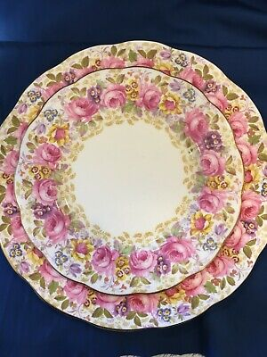 Royal Albert Serena 2 piece plates china  dinner plate and  salad plate