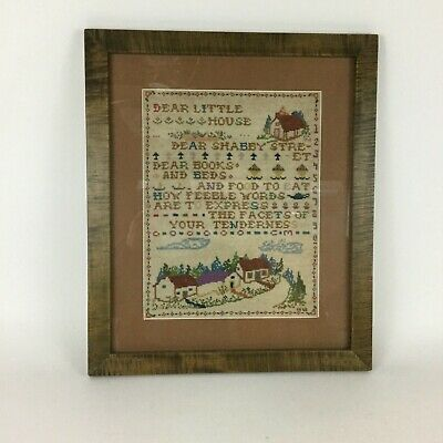 Antique 1928 Sampler In A Curly Maple Frame