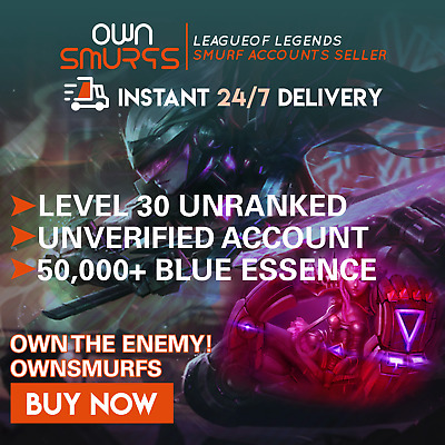 [NA 50K+] League of Legends Unranked Account NA SMURF LoL 50,000 - 60,000 BE IP