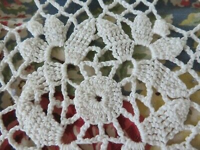 Romantic Vintage Crochet Tablecloth Bedspread Beautiful Pattern FRENCH COUNTRY