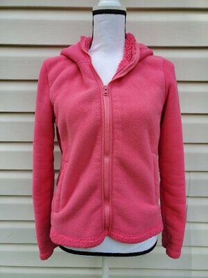 Ladies Womens Joe Boxer Solid Pink Fleece Hooded Jacket ~ Size Small