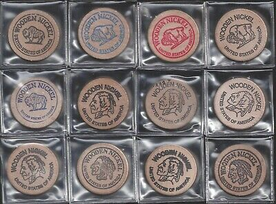 Wooden Nickels - Promotional And Advertising - Lot Of 12