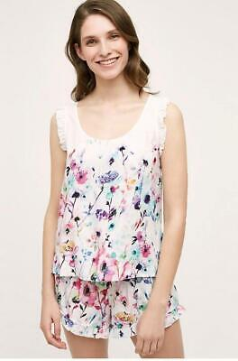 Anthropologie Eloise Size XL Ruffled Daisy Sleep Top Multicolor Floral New NWT
